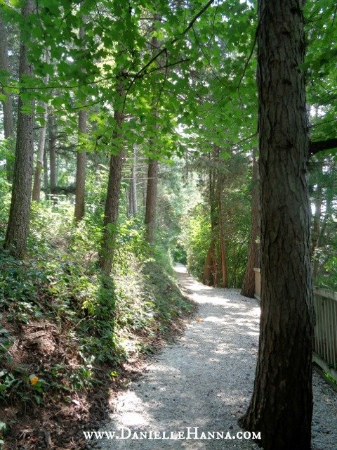 The Lake Shore Path. This trail circles the entire lake and gives the closest view to the mansions.